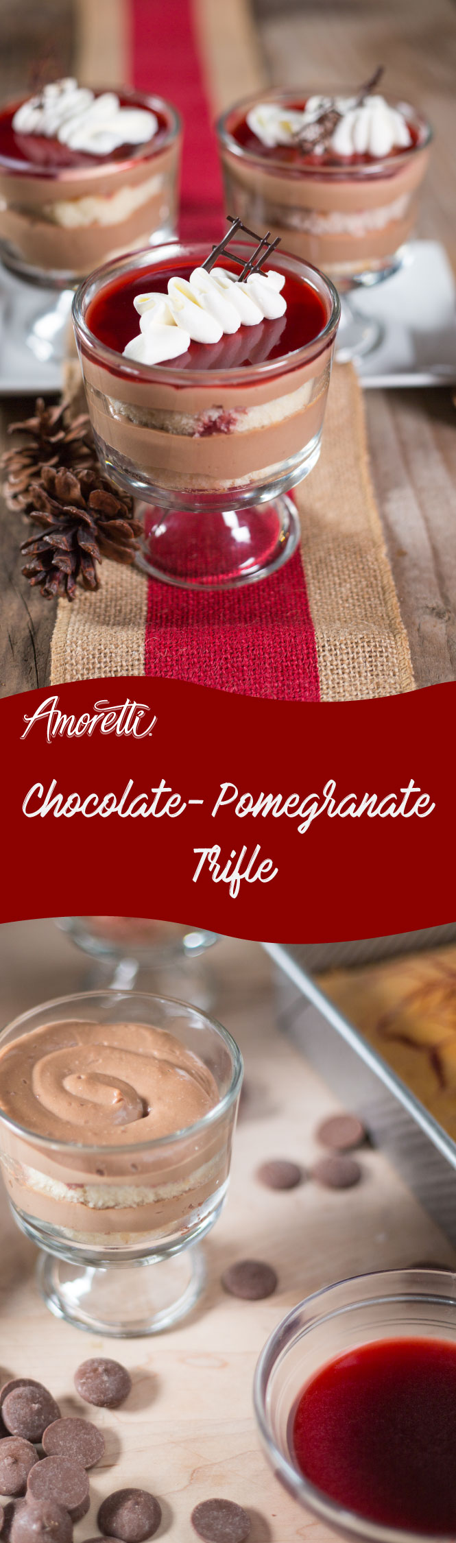 Amoretti Recipe: Chocolate-Pomegranate Trifle