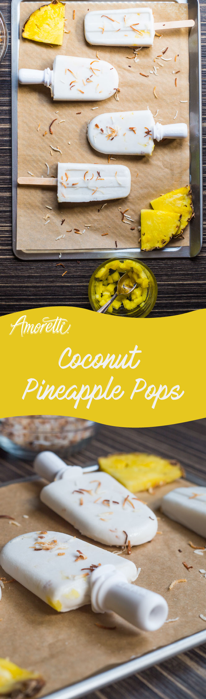 It's a hot summer day, and all you want is to cool down with an icy coconut pineapple snack!