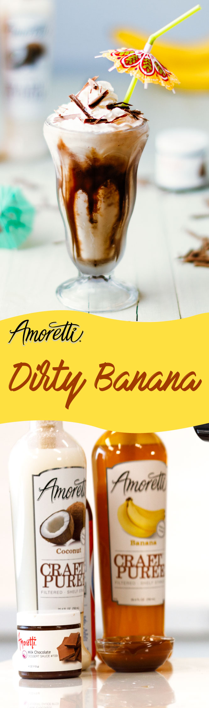 This Dirty Banana cocktail will make you feel like you are in a tropical paradise!
