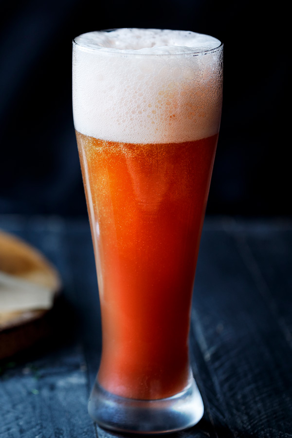 Amoretti Recipe: Wild Strawberry Rhubarb Pilsner