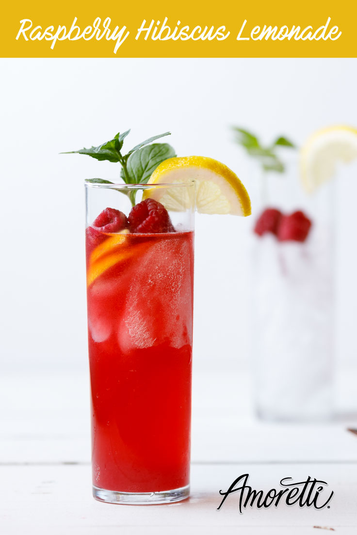 Amoretti Recipe: Raspberry Hibiscus Lemonade. One-of-a-kind refreshing lemonade for summer!