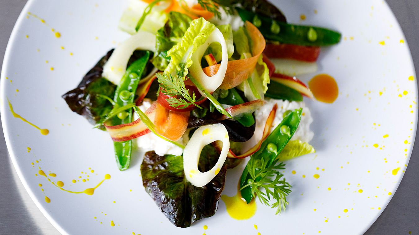 Amoretti Recipe: Springtime Salad with Curry Lime Dressing