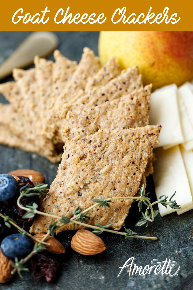 Amoretti Goat Cheese Crackers: A cheesy snack that leaves you satisfied until dinnertime!