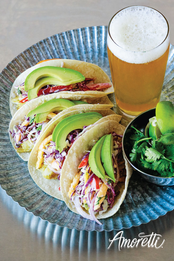 Amoretti's Fish Tacos with Mango Slaw and Chipotle Lime Aioli Recipe: Perfect summer meal for those beach gatherings!