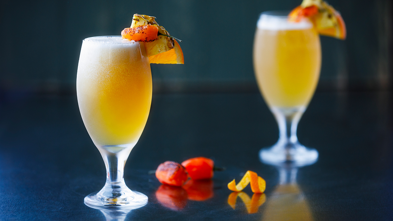 Amoretti Recipe: Pineapple Habanero Shandy Cocktail