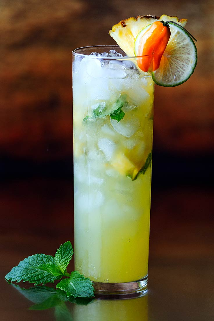 Amoretti Pineapple Habanero Mojito Recipe: Cool off this summer with a tongue-tingling mojito!