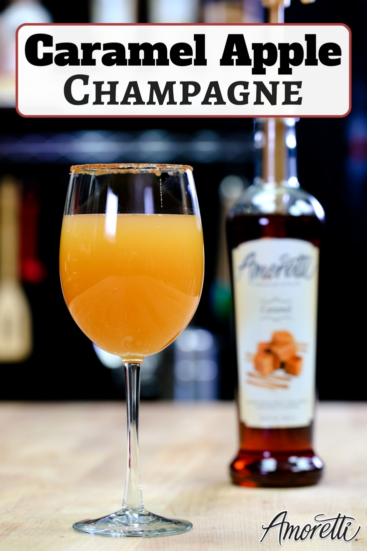 Amoretti Caramel Apple Champagne Beverage Recipe