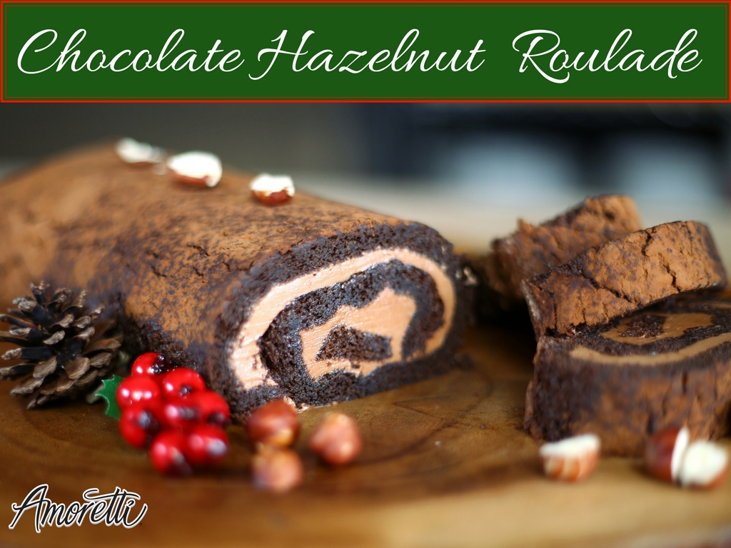 Amoretti Chocolate Hazelnut Roulade Recipe