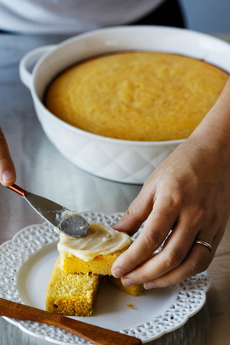 Amoretti Gluten Free Cornbread with Sweet Corn Honey Butter Recipe