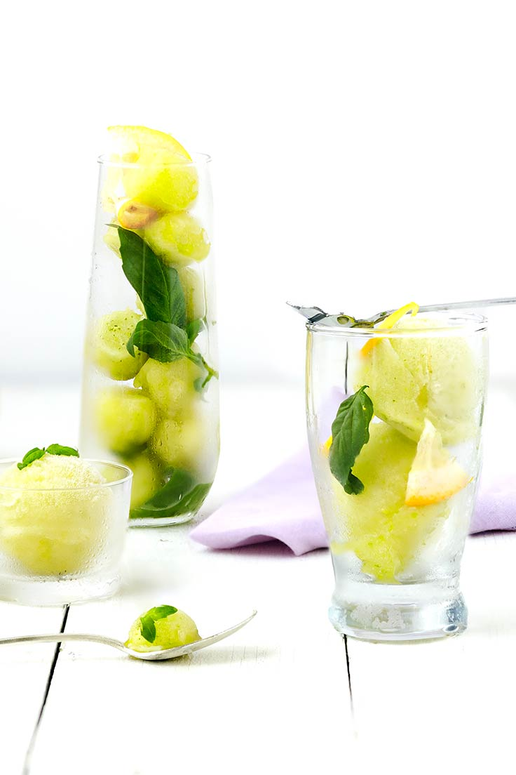Amoretti Lemon Basil Sorbet Recipe: Have a taste of summer!