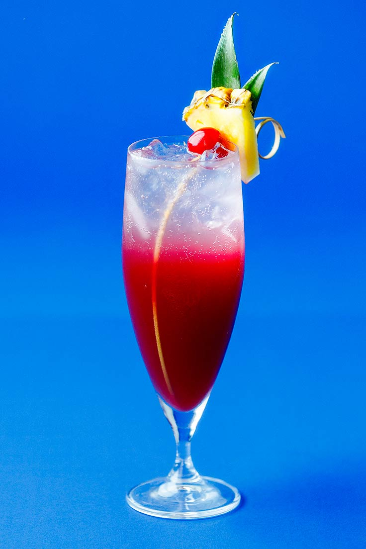 Amoretti Sparkling Colada Recipe: A quick garnish adds a fun touch!
