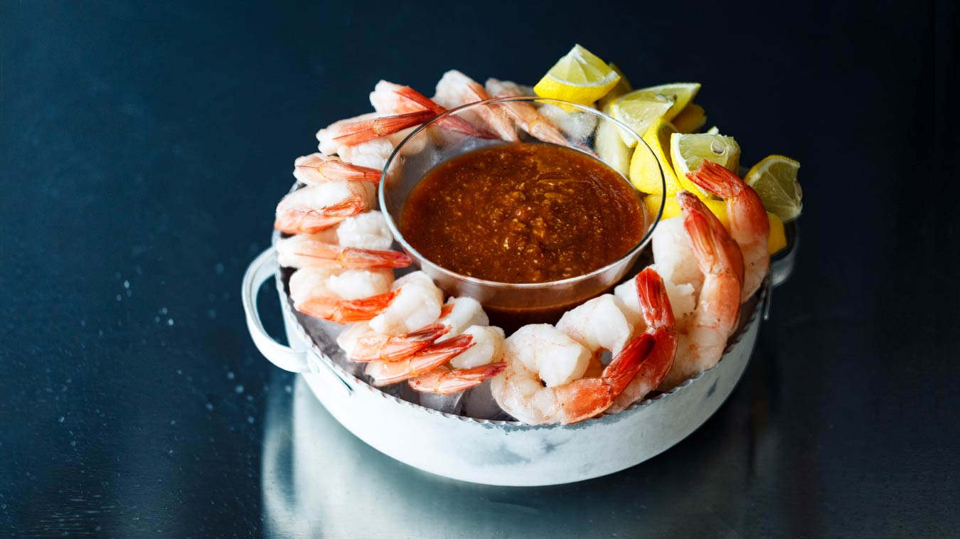 Amoretti Recipe: Poached Shrimp & Bloody Mary Cocktail Sauce