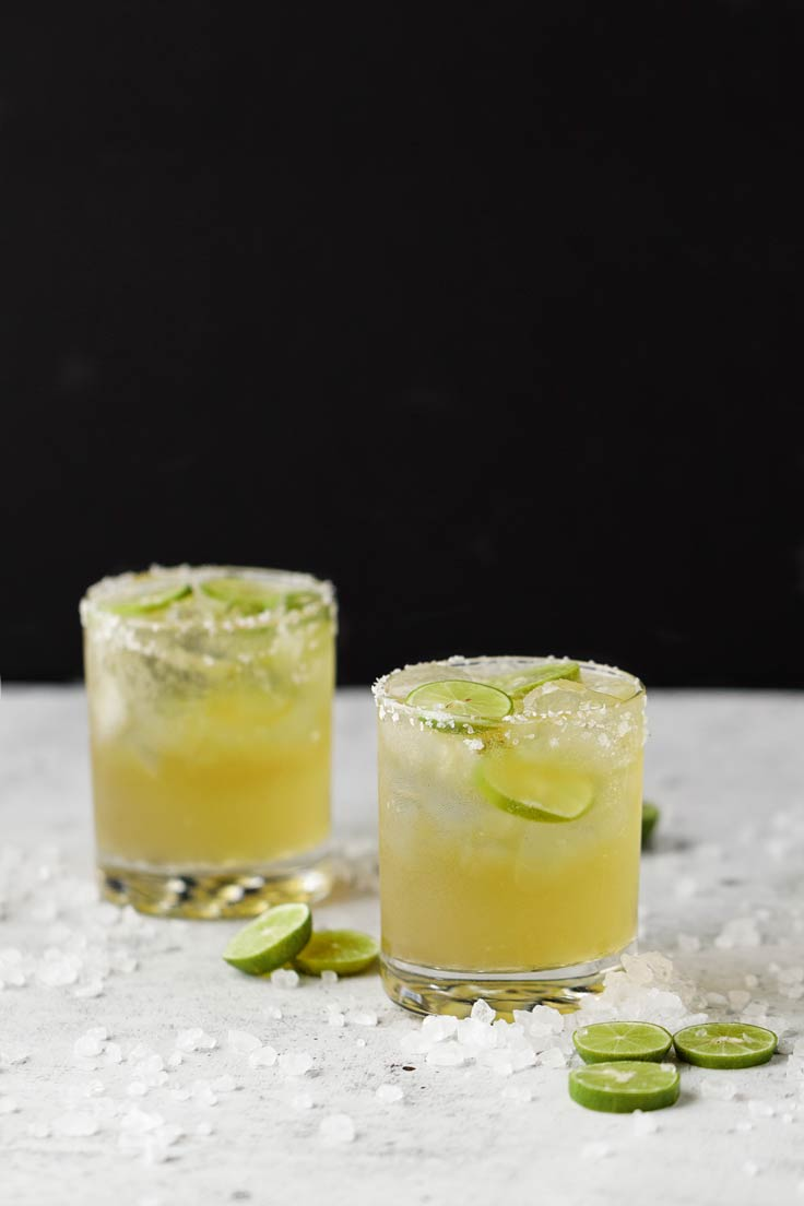 Amoretti Recipe: Key Lime Beergaritas on black