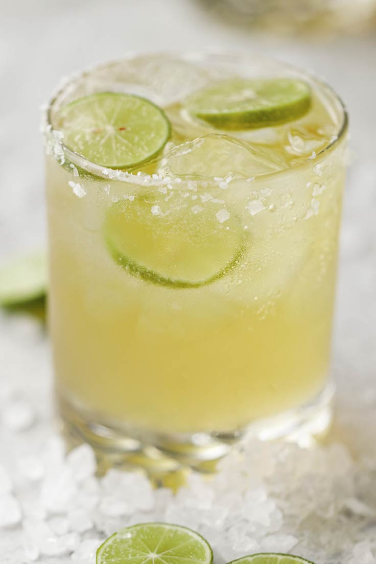 Amoretti Recipe: Key Lime Beergarita closeup