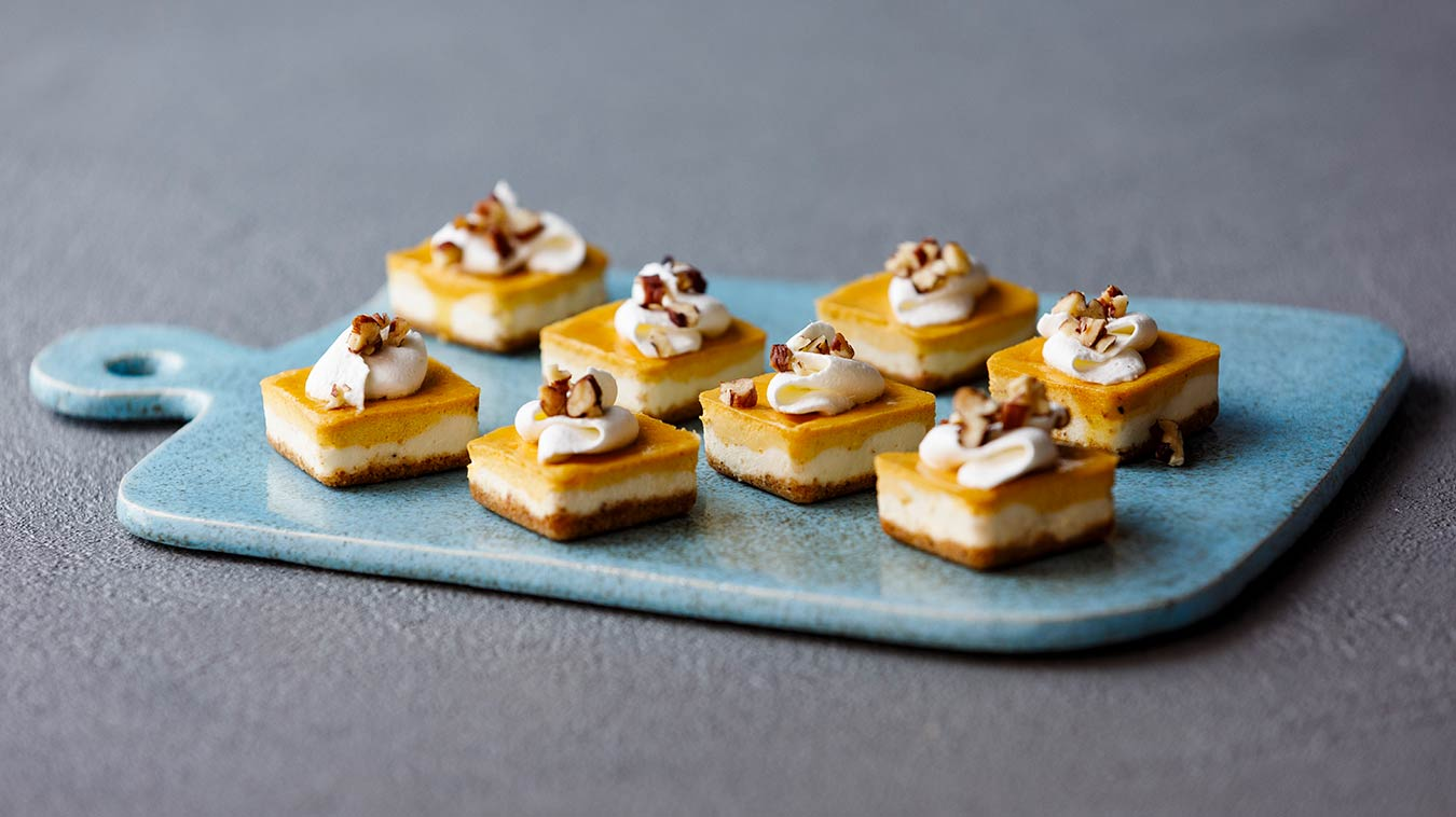 Amoretti Pumpkin Spice Cheesecake Bites Recipe