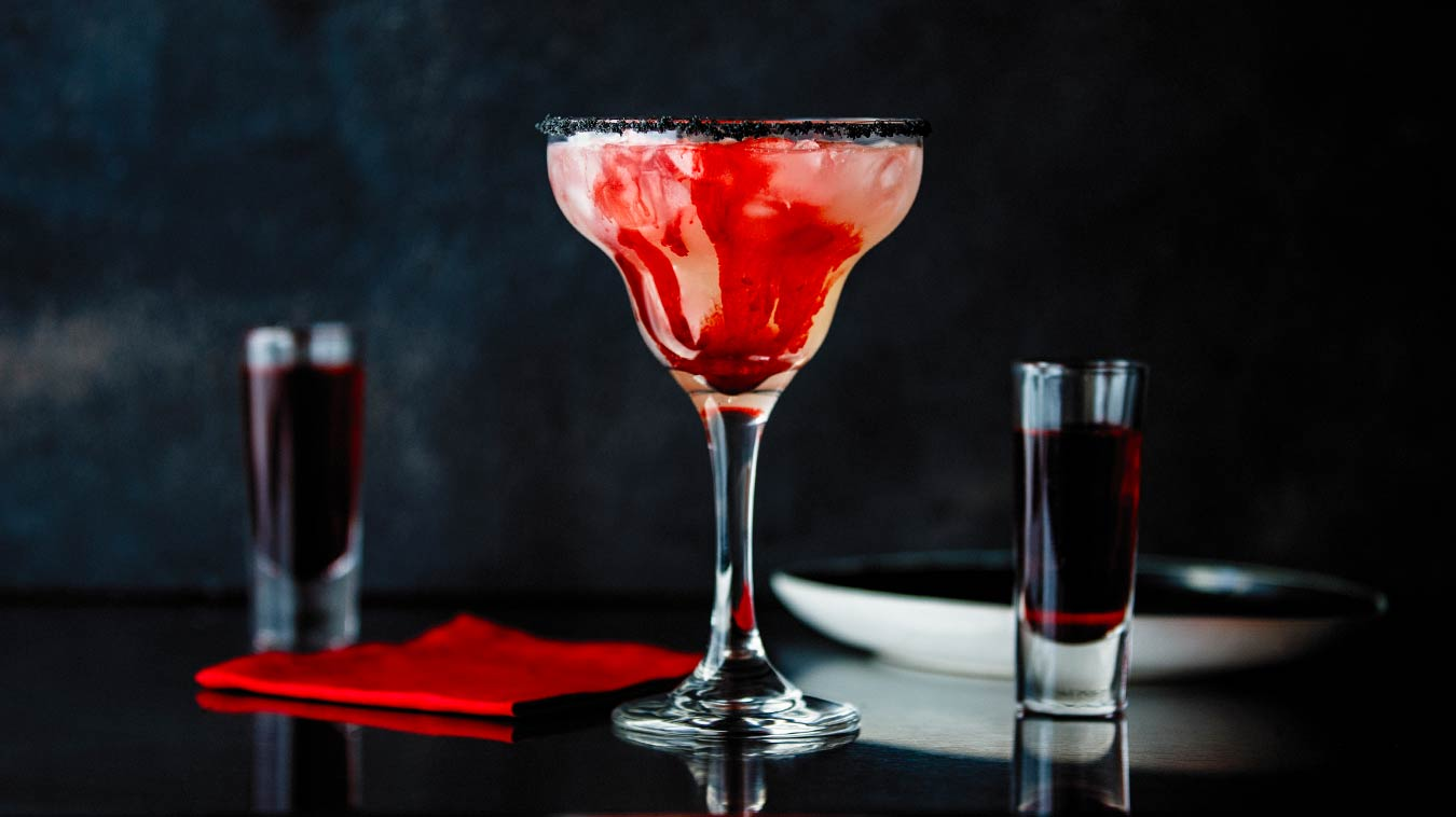 Amoretti Recipe: Bloody Good Margarita, partially mixed