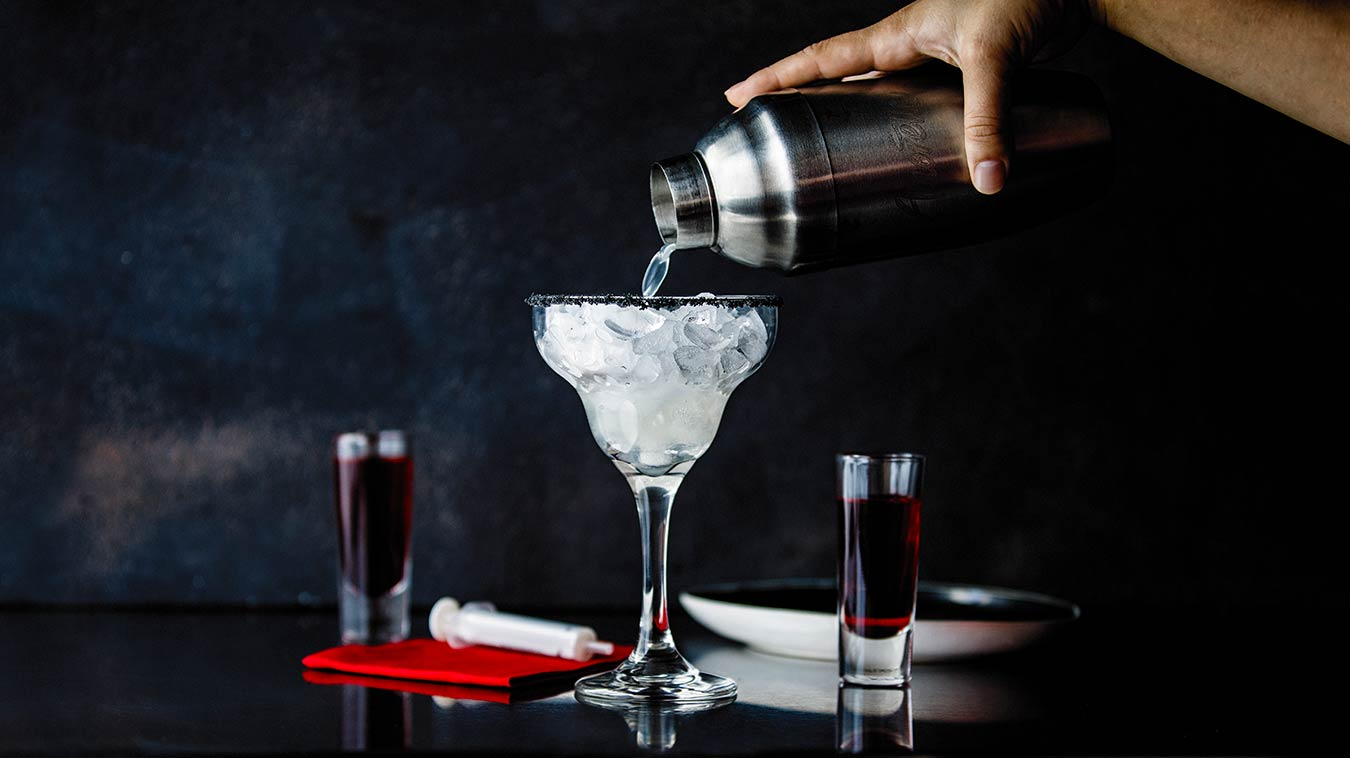 Amoretti Recipe: Bloody Good Margarita, pouring wide