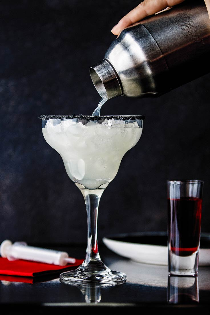 Amoretti Recipe: Bloody Good Margarita, pouring