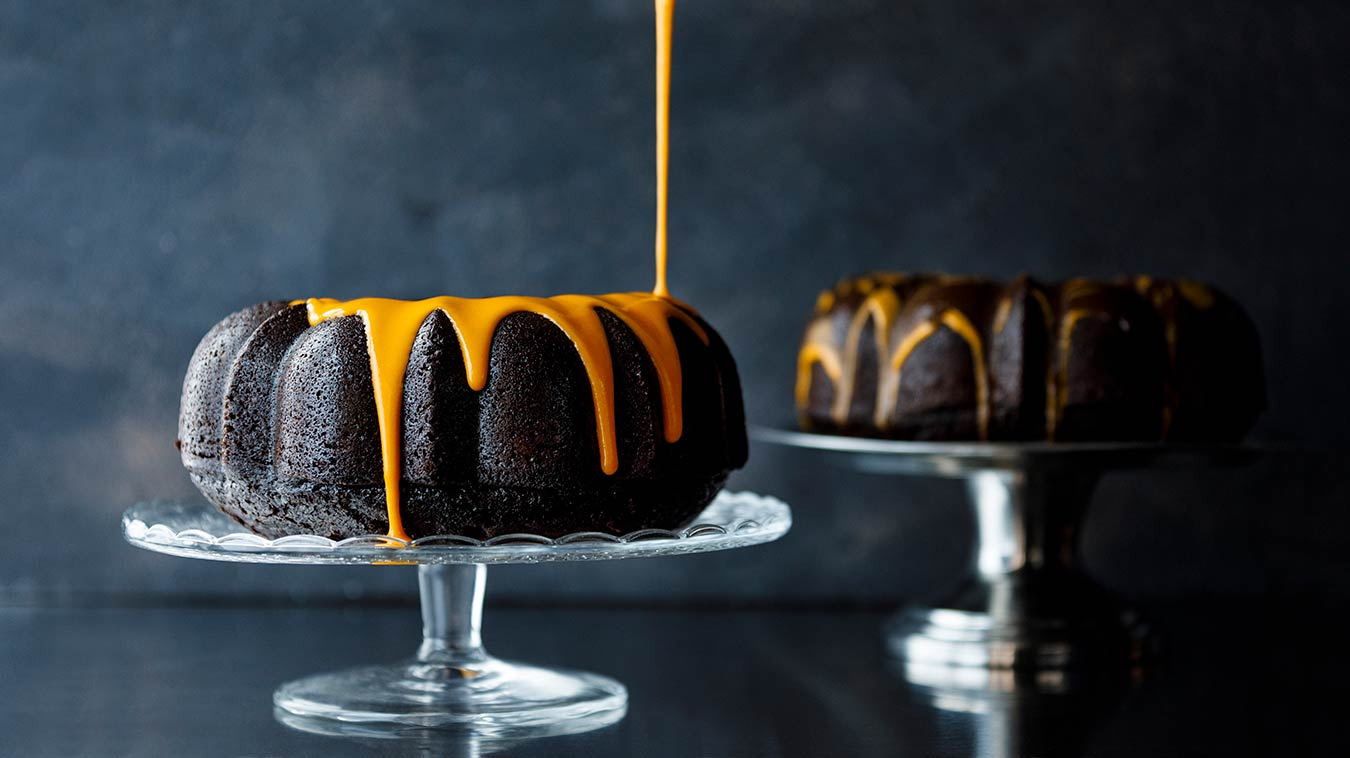 Amoretti Chocolate Pumpkin Spice Bundt Cake Recipe
