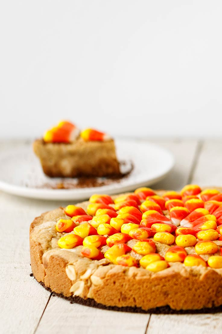 Amoretti Candy Corn Peanut Blondies Recipe
