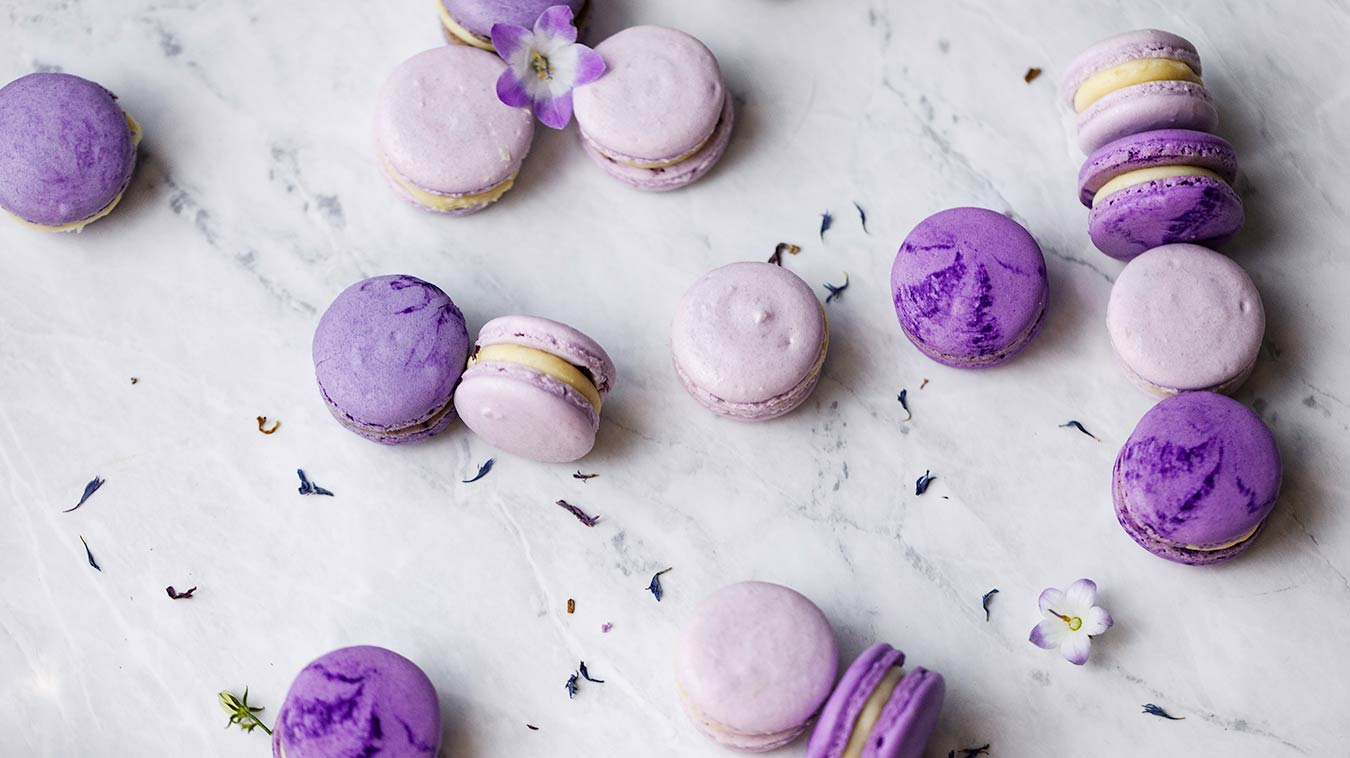 Violet Lavender Macaron Recipe with Chef Colette and Amoretti