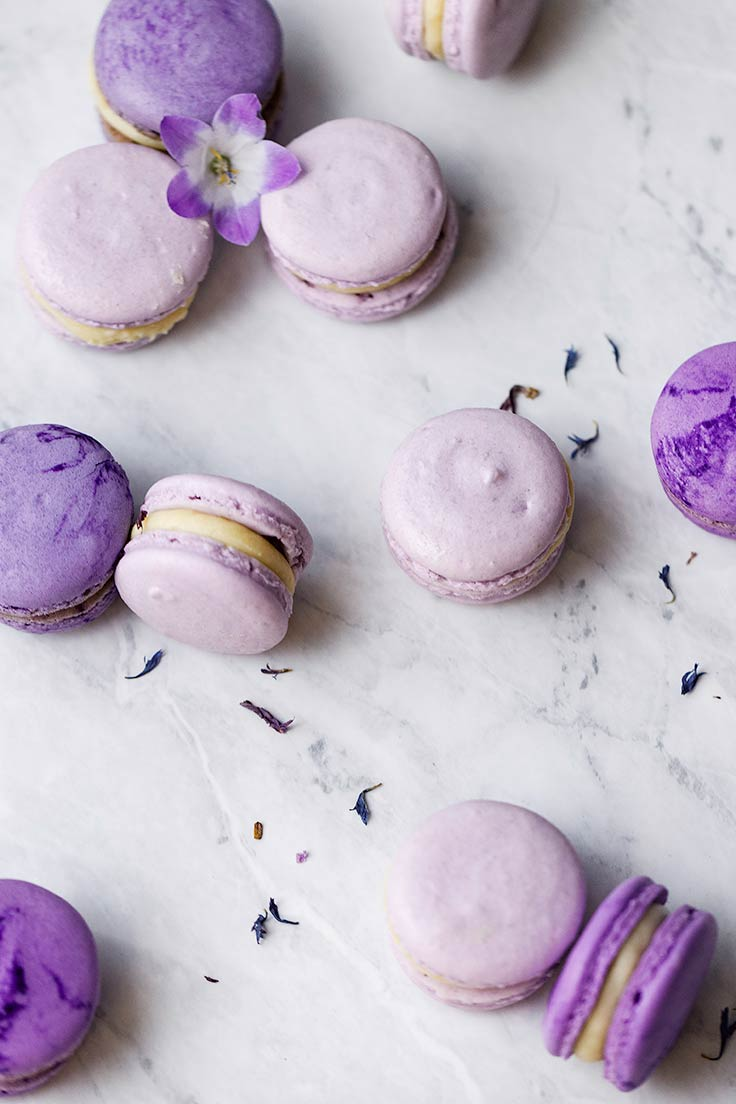 Amoretti Recipe: Violet Lavender Macarons with Chef Colette