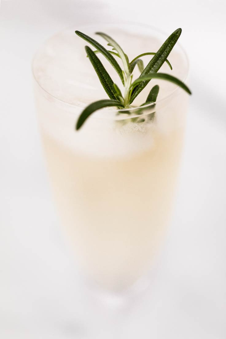 Amoretti Rosemary Kombuchtails Recipe. Rosemary Lavender Kombucha Cocktail.