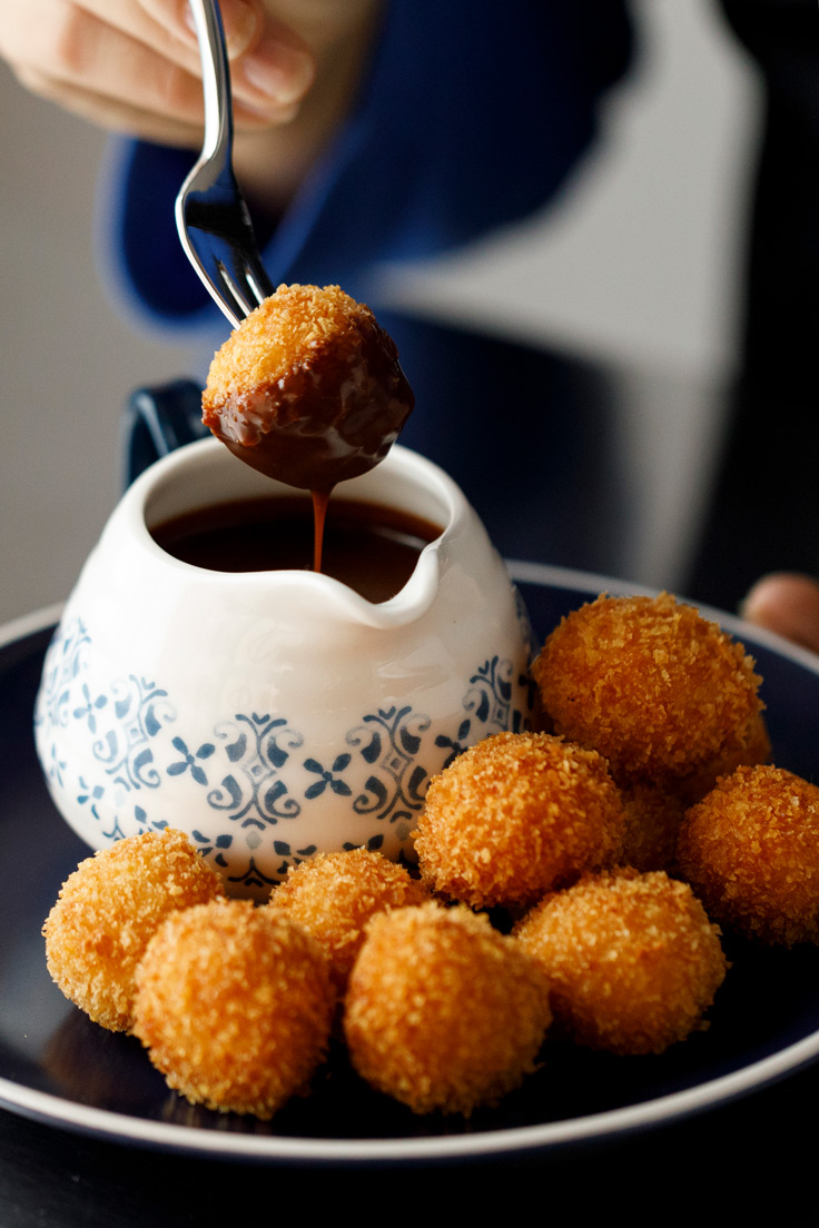 Amoretti Horchata Arancini with Mexican Coffee Dipping Sauce Recipe