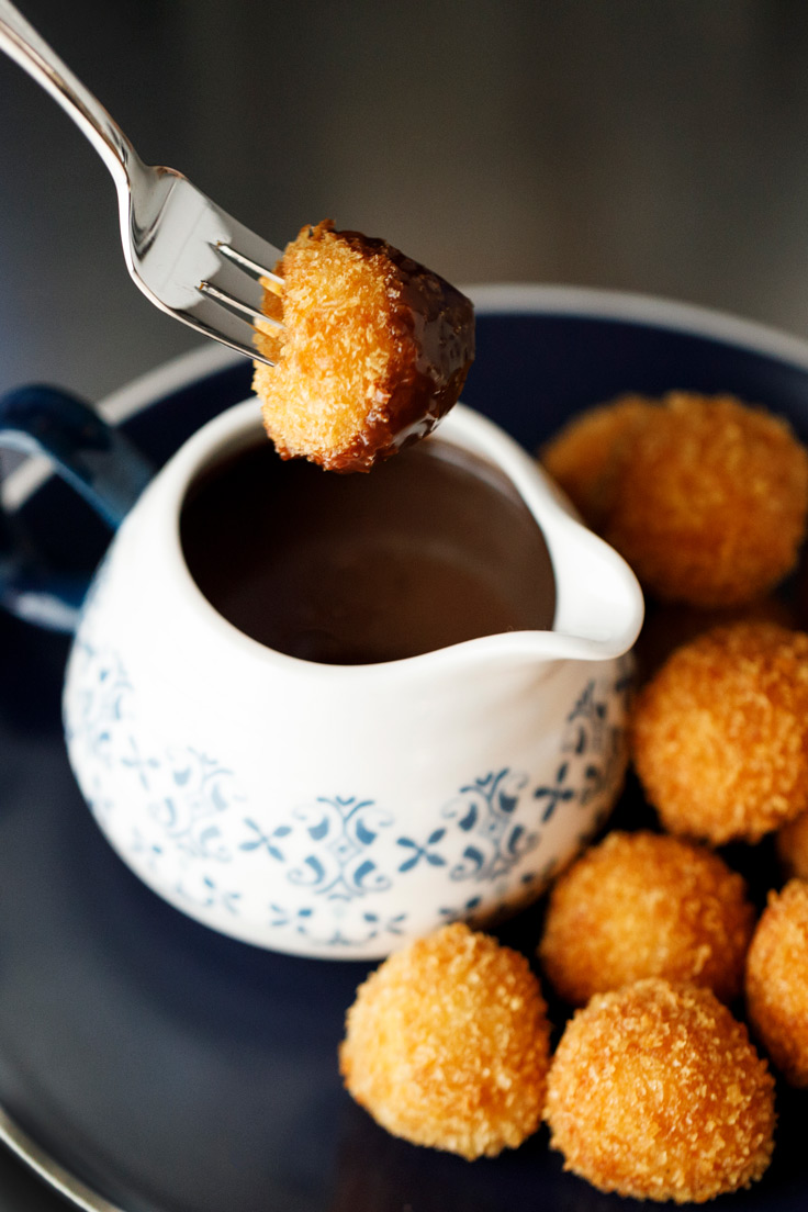 Amoretti Recipe: Horchata Arancini with Mexican Coffee Dipping Sauce