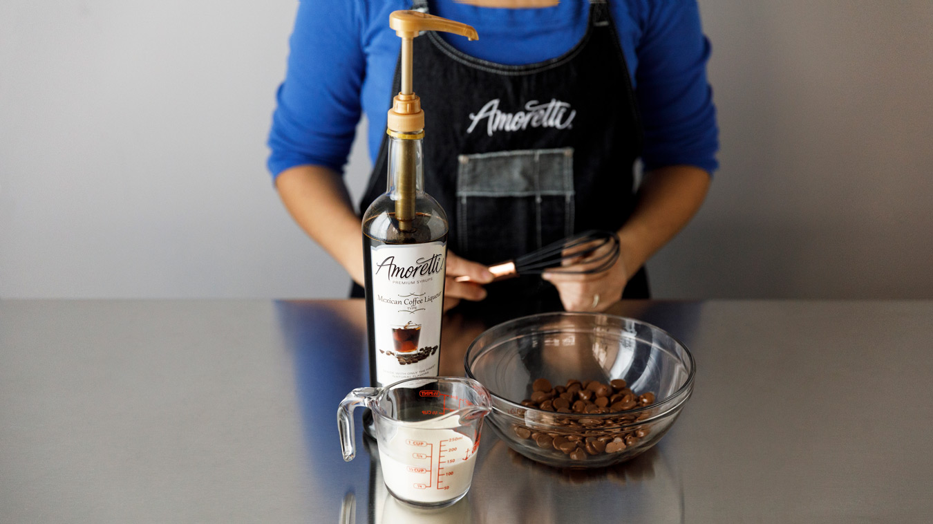 Amoretti Recipe: Horchata Arancini with Mexican Coffee Dipping Sauce. Dipping sauce ingredients.
