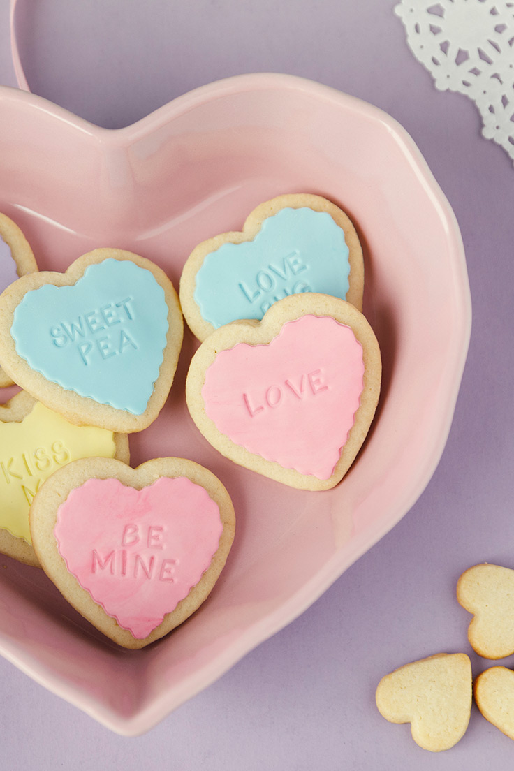 Amoretti Conversation Heart Cookies Recipe