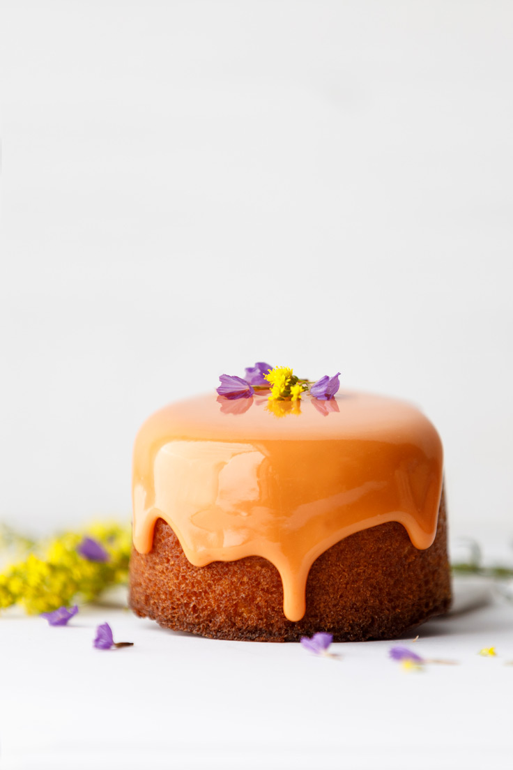 Amoretti Lemon Verbena Pound Cake Recipe with Tangerine Glaze