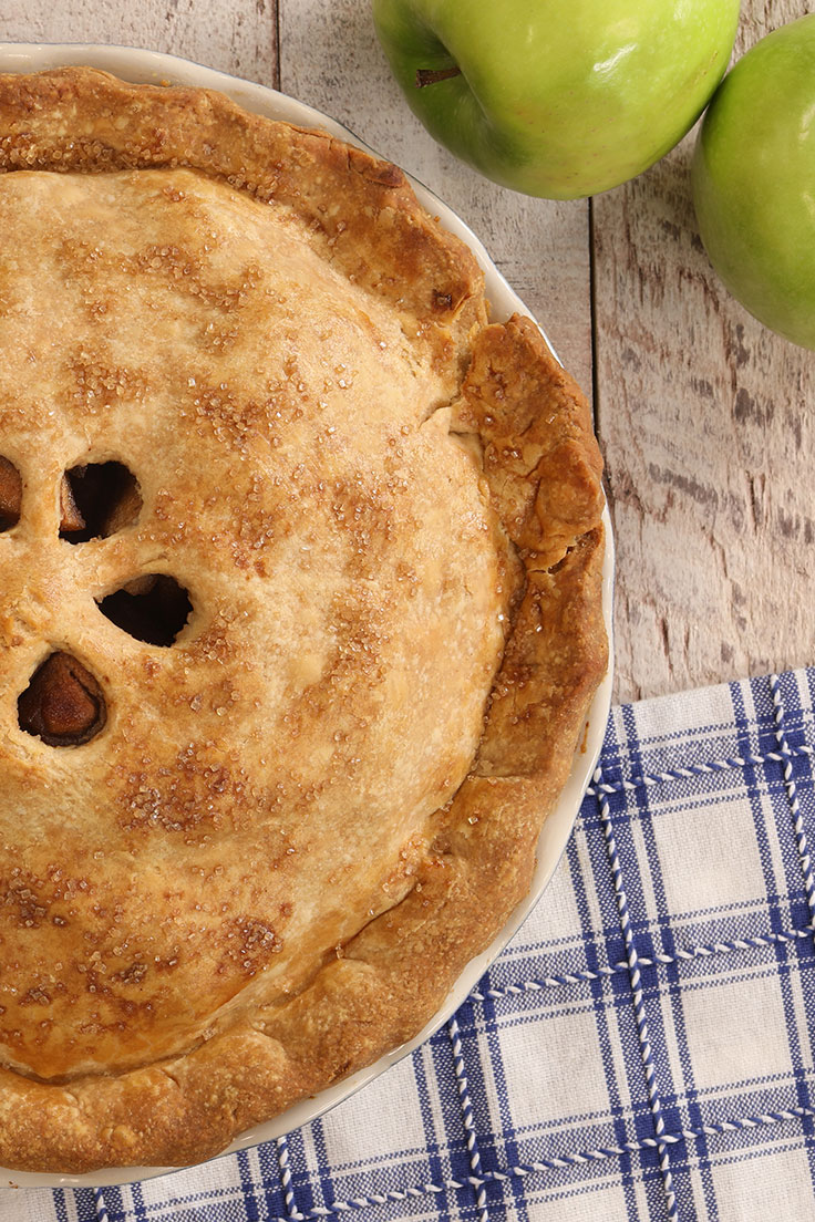 Amoretti Caramel Apple Pie Recipe with apples and spices