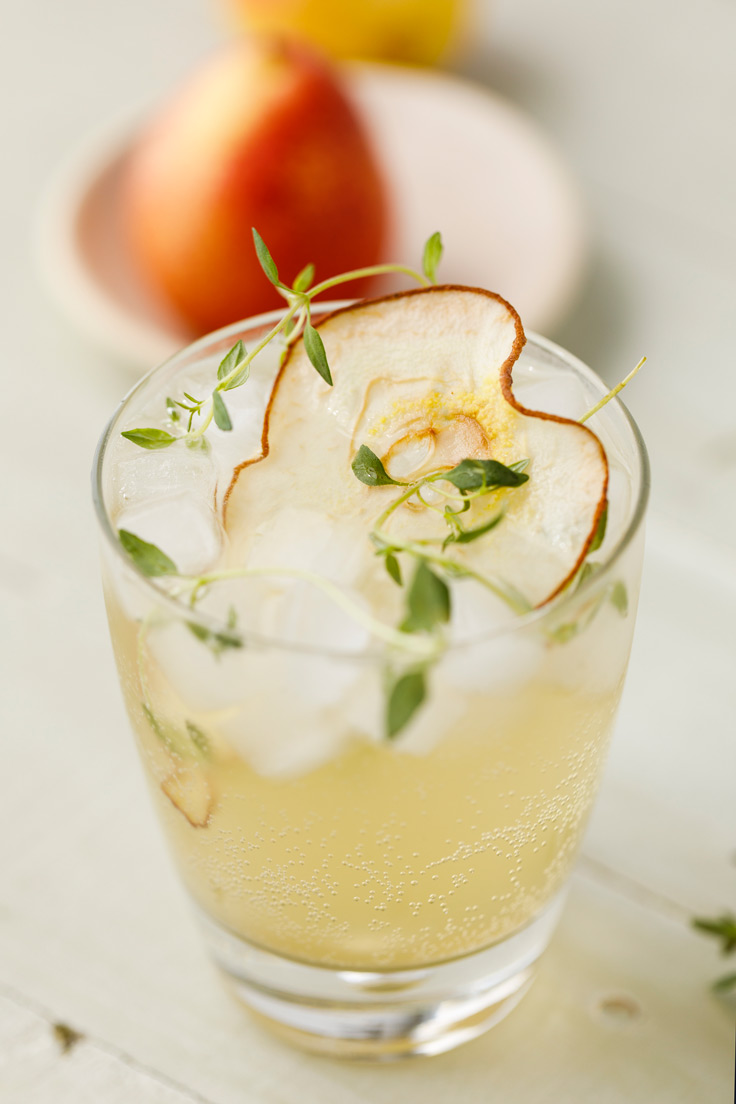 Amoretti Pear Spritzer Recipe with pears