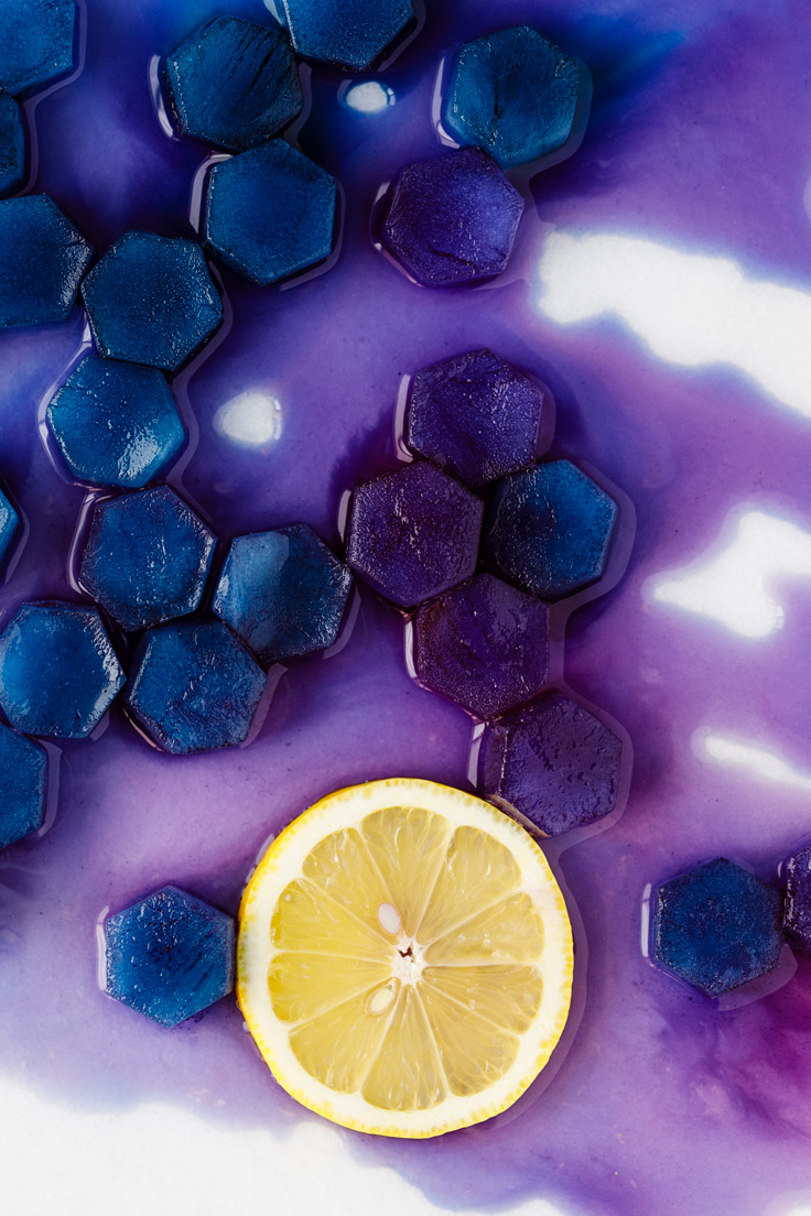 Amoretti Butterfly Pea Tea Ice Cubes Recipe
