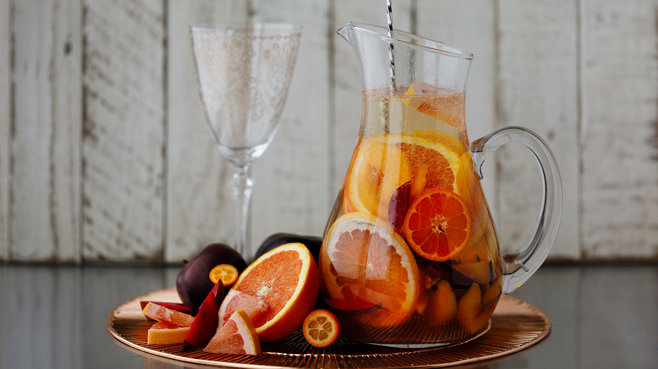 Amoretti Recipe: Summer Sangria with stone fruits and citrus