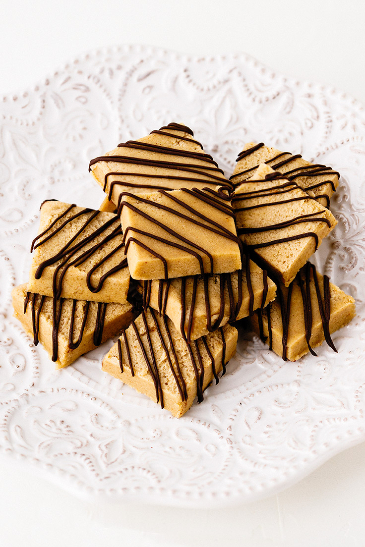 Amoretti Peanut Butter Edible Cookie Dough Recipe with chocolate drizzle