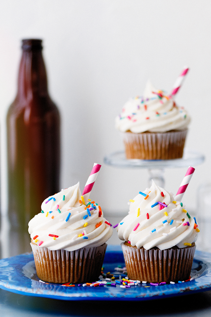 Amoretti Root Beer Float Cupcakes Recipe