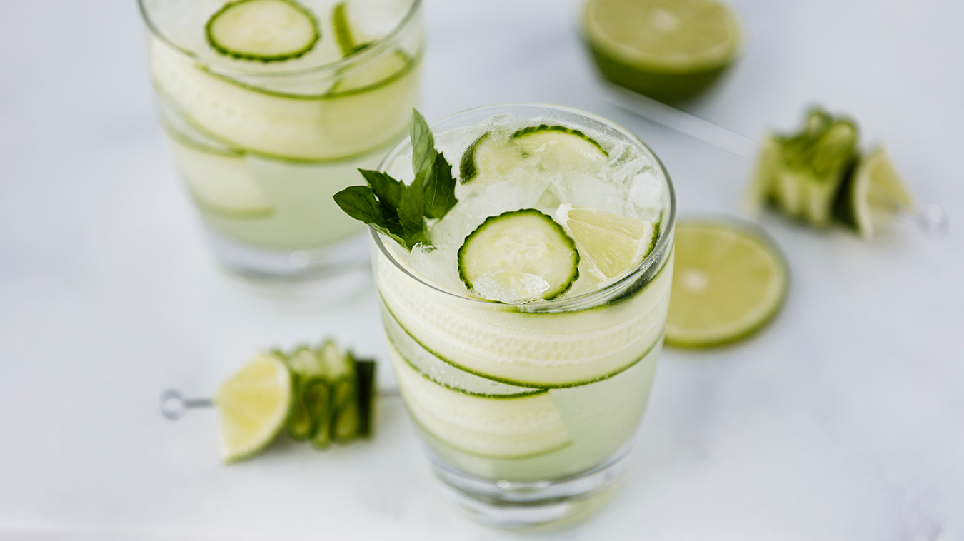 Amoretti Recipe: Cucumber Melon Vodka Collins