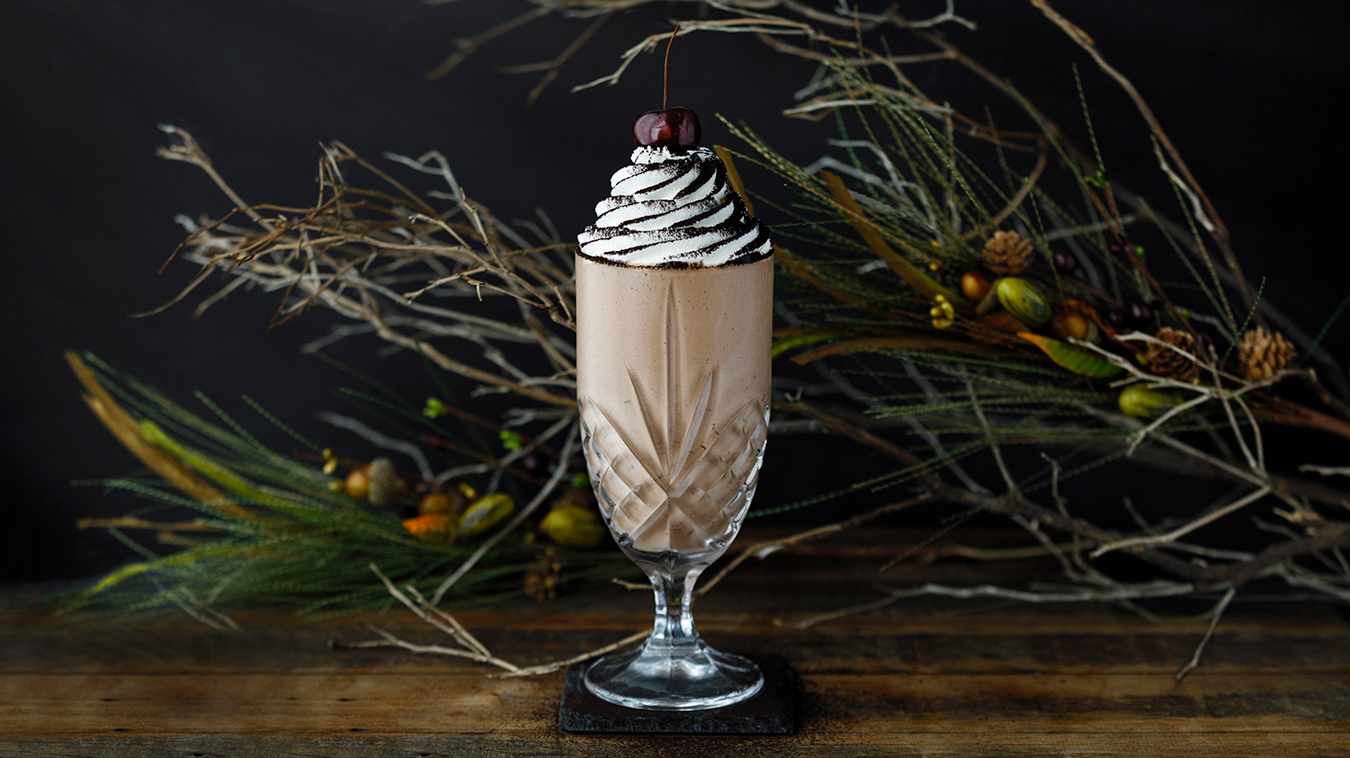 Amoretti Recipe: Black Forest Milkshake with Kirsch Whipped Cream