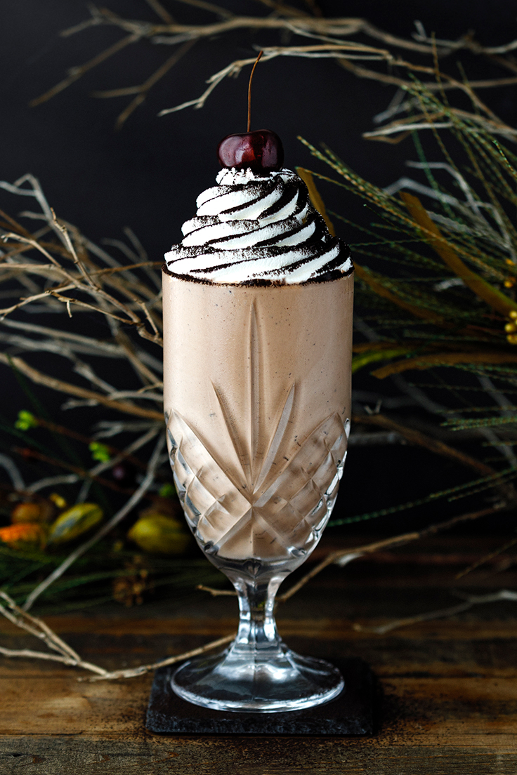 Amoretti Black Forest Milkshake with Kirsch Whipped Cream Recipe