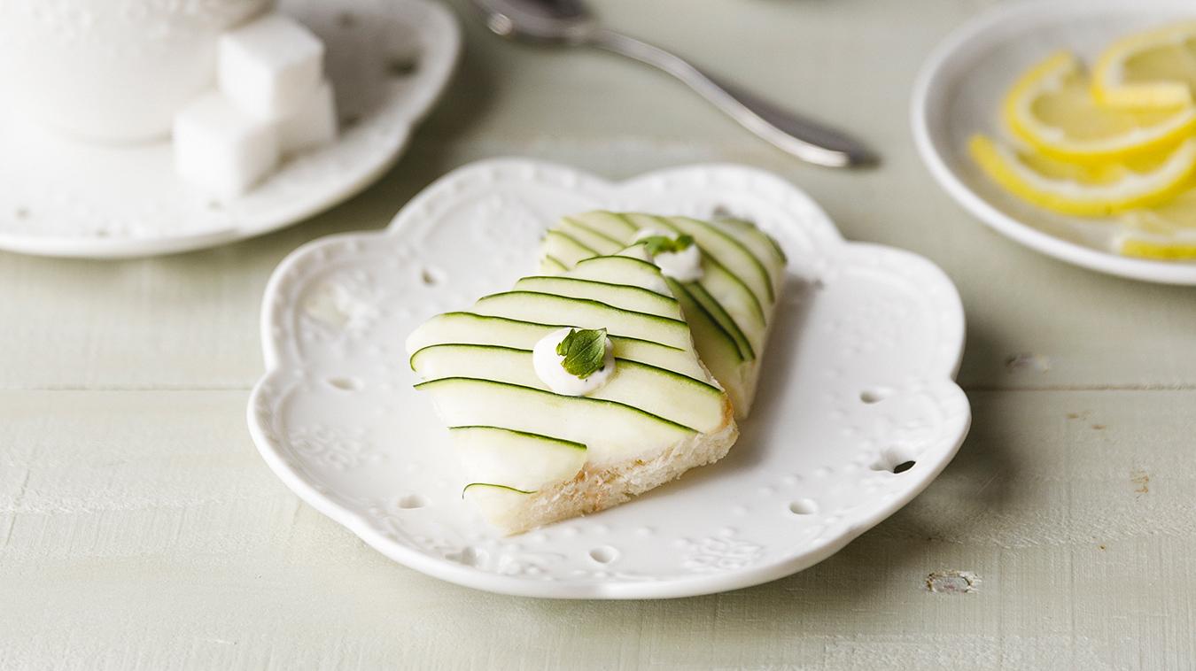 Amoretti Recipe: Cucumber Mint Tea Sandwiches