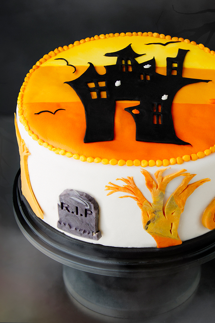 Amoretti Halloween Cake - Chocolate Cake with Pumpkin Spice Buttercream Recipe
