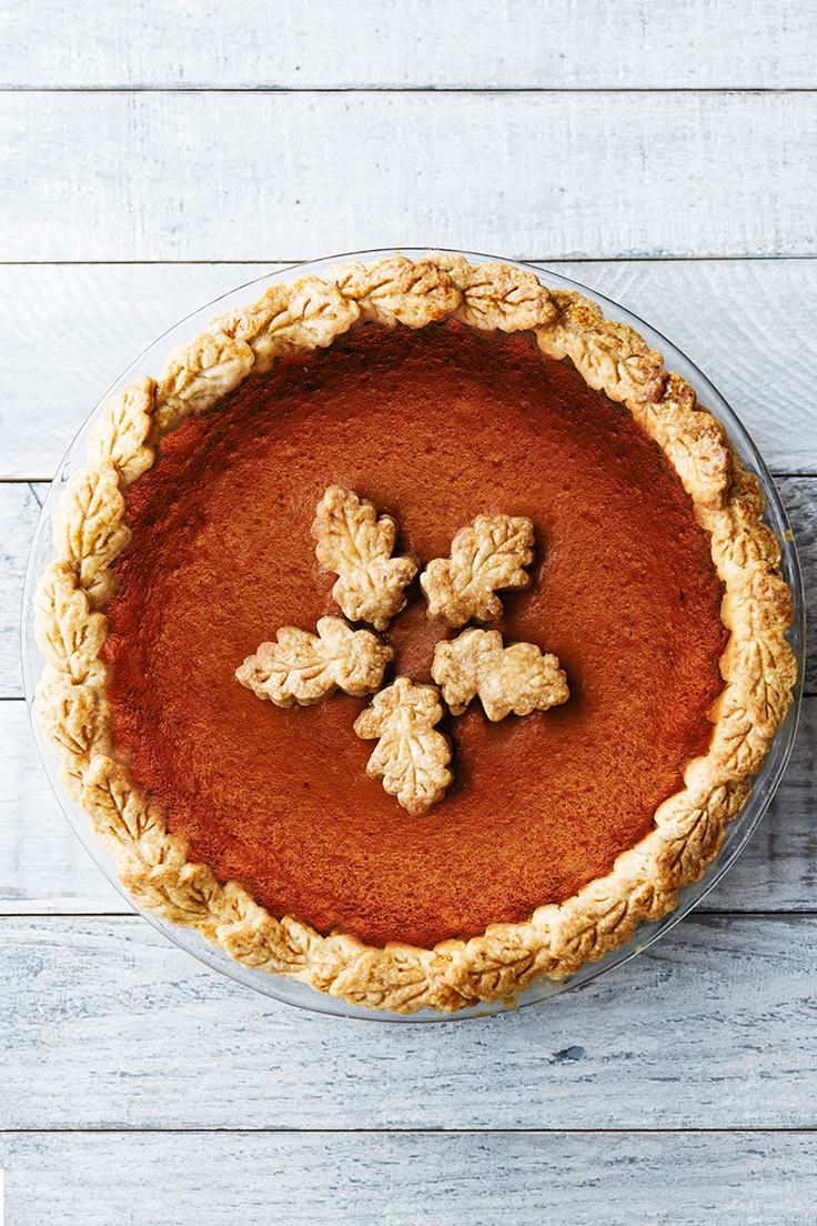 Amoretti Classic Pumpkin Pie with Pumpkin Pie Crust Recipe
