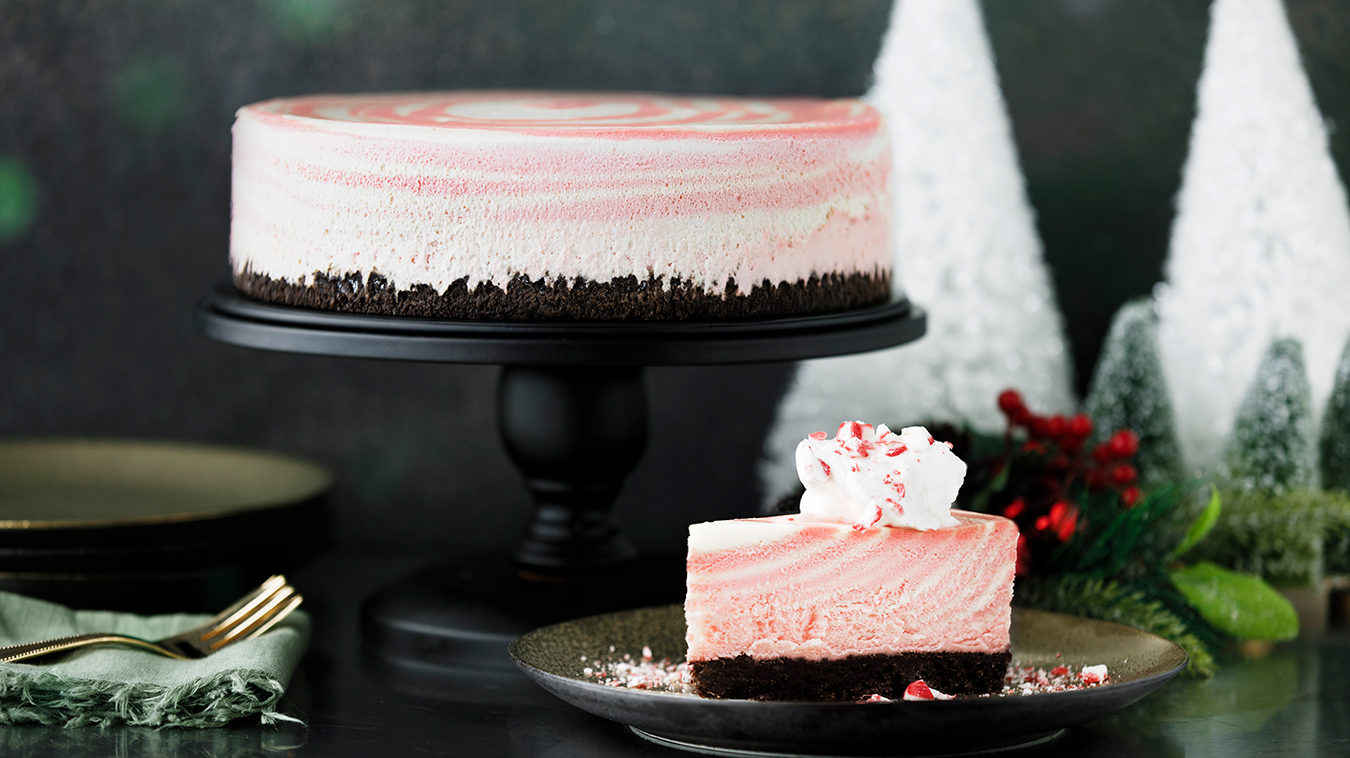 Amoretti Recipe: Peppermint Zebra Cheesecake