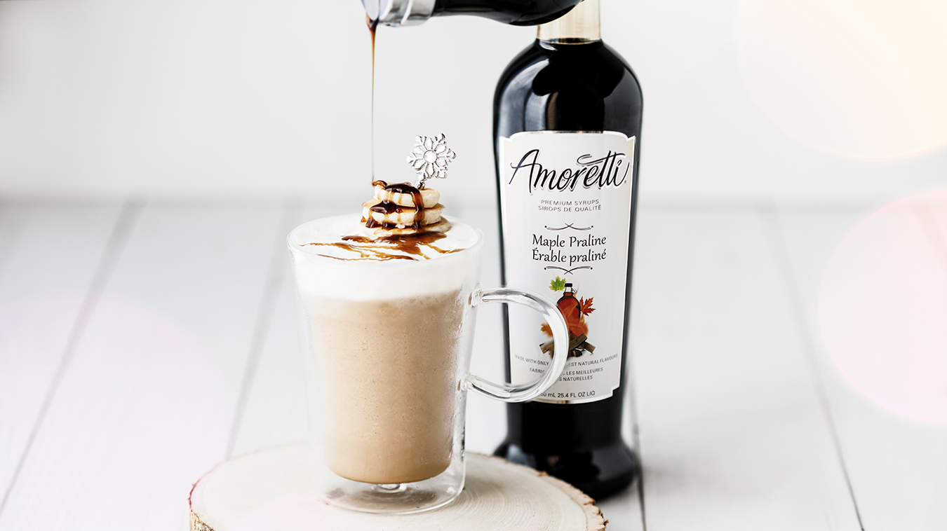 Amoretti Recipe: Frosted Maple Blended Coffee