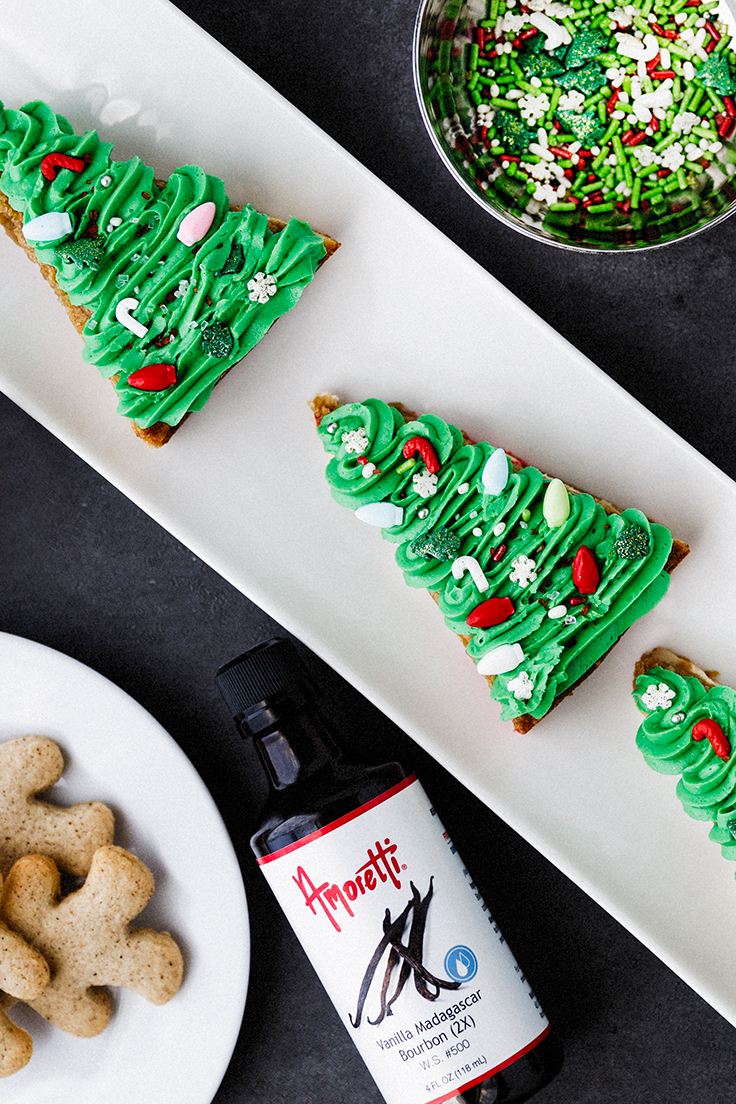 Amoretti Christmas Blondies Recipe with Madagascar Bourbon Vanilla