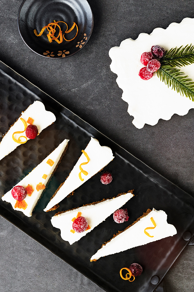 Amoretti Goat Cheese Cheesecake with Sugared Cranberries Recipe