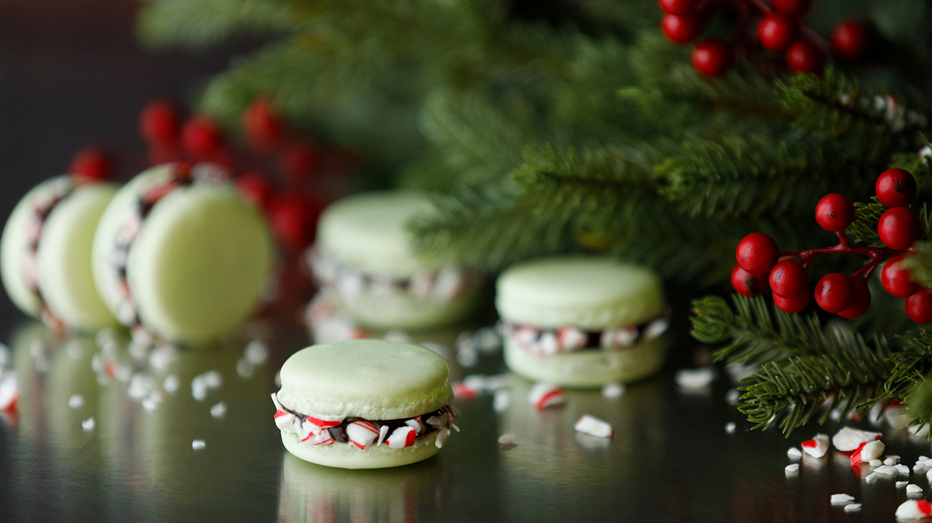 Amoretti Recipe: Chocolate Peppermint Macarons from Chef Colette