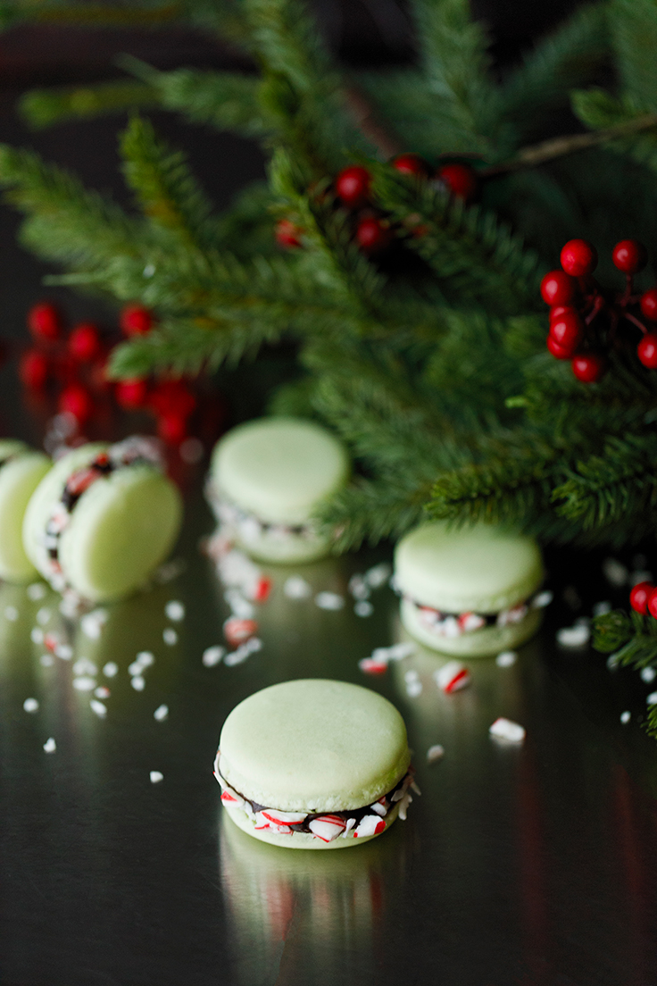 Chocolate Peppermint Macaron Recipe from Chef Colette with Amoretti